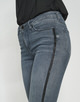 Skinny Jeans Elma glitter stripe grey washed