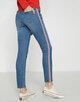 Skinny Jeans Ely red stripe light washed blue