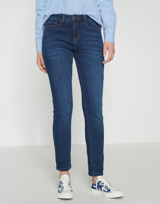 Skinny Jeans Emily deep mid blue