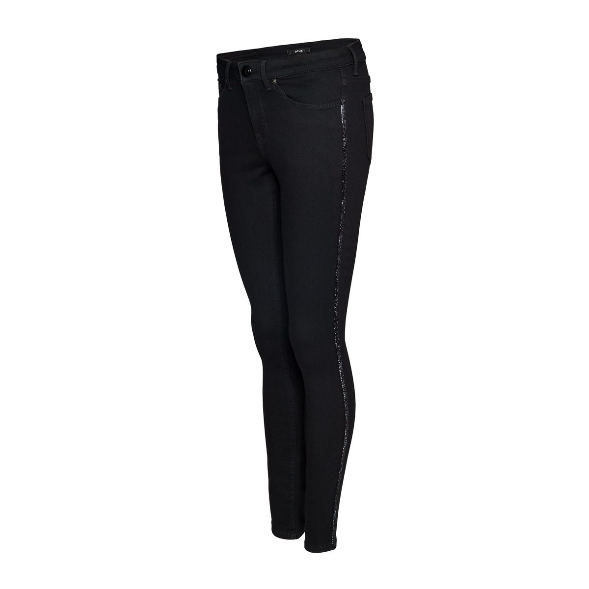Artikel klicken und genauer betrachten! - Die klassische Skinny Jeans aus einem Baumwoll-Mix überzeugt mit einer bequemen Tragbarkeit. Ein echtes Highlight ist der schimmernde Galonstreifen in der Seitennaht, der der Hose einen edlen Hauch verleiht. Die Jeans wird abgerundet durch das Five-Pocket-Design. Baumwoll-Mix, schimmernder Galonstreifen, Five-Pocket Design, das Model ist 177 cm groß und trägt Größe 36.   im Online Shop kaufen