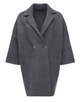 Gebreide mantel Dora raven grey