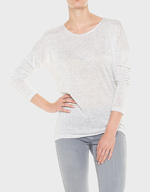 Oversized shirt Seconda pure grey melange