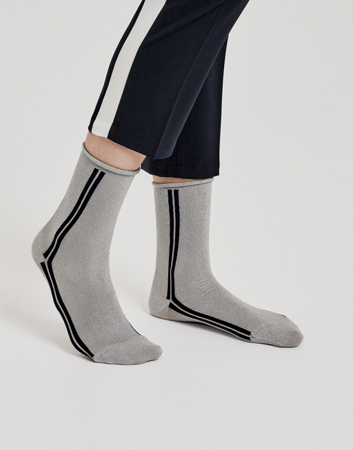 Socke Yuli race pure grey melange