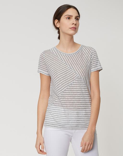 Streifenshirt Sesta pure grey melange