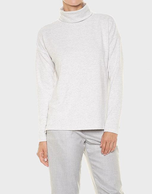 Shirt met col Samana pure grey melange