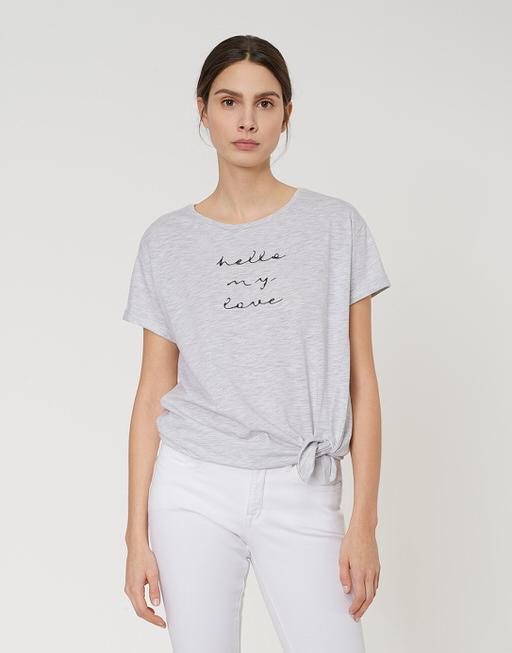 Motiv Shirt Sakosta print pure grey melange