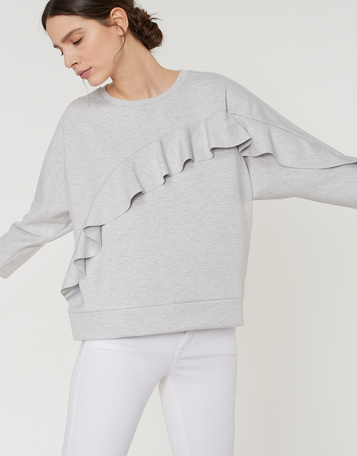 Sweater Grani pure grey melange