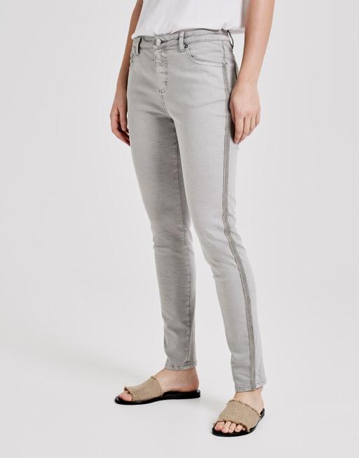 Skinny jeans Evita silver beads pure grey melange