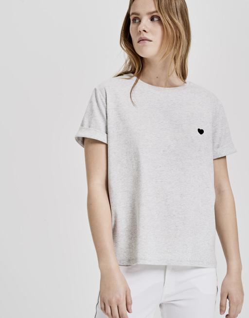 Shirt met print Serz pure grey melange