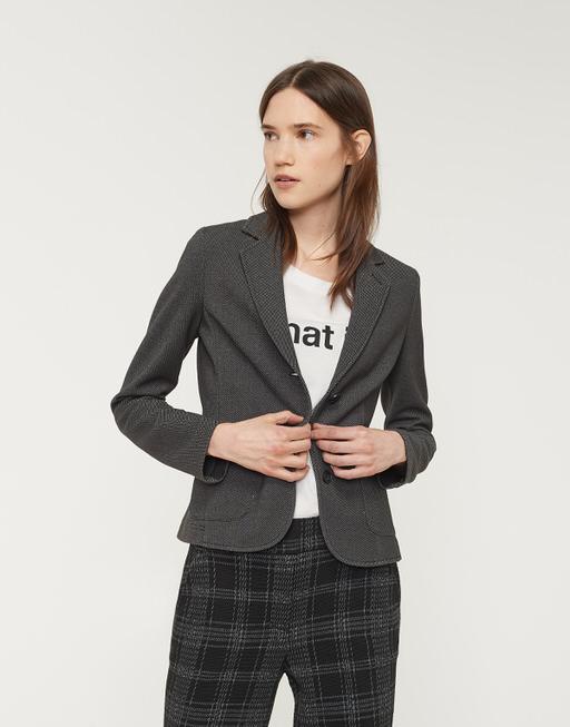 Jersey blazer Juno twill slate grey melange