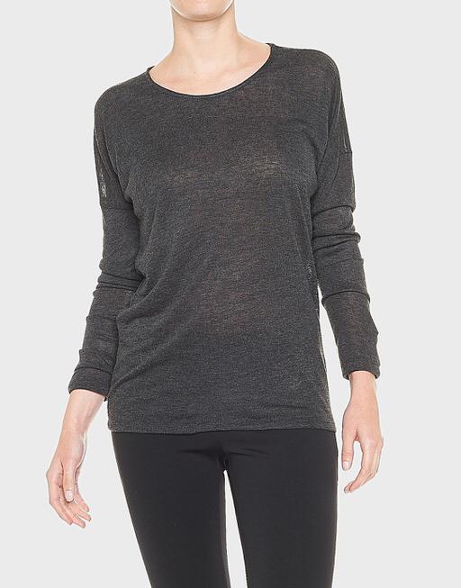 Oversize Shirt Seconda slate grey melange
