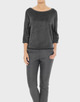 Sweater Gaela slate grey melange