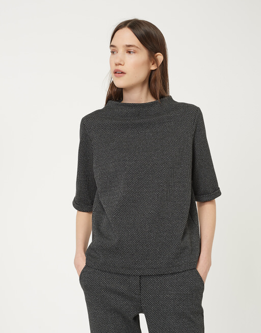 Sweatshirt Gadeni pepita slate grey melange