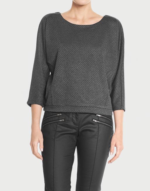 Oversize-Shirt Gemila rhomb slate grey melange