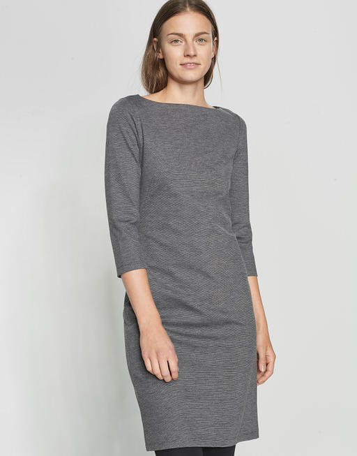 Jerseykleid Willy slate grey melange