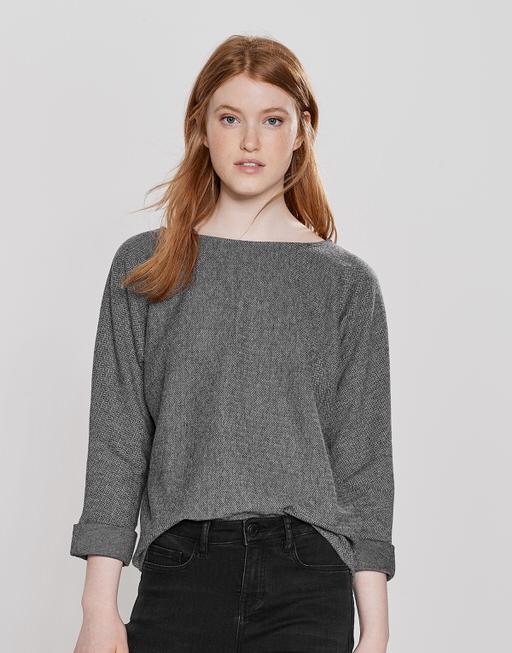 Sweater Ganya slate grey melange