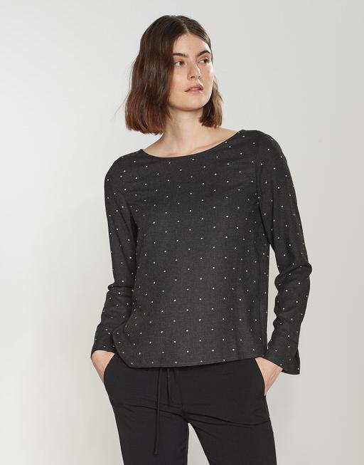 Shirtblouse Fioretta dot slate grey melange