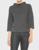 Sweatshirt Galvi herringbone slate grey melange
