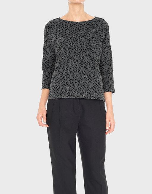 Boxy-Shirt Golda slate grey melange