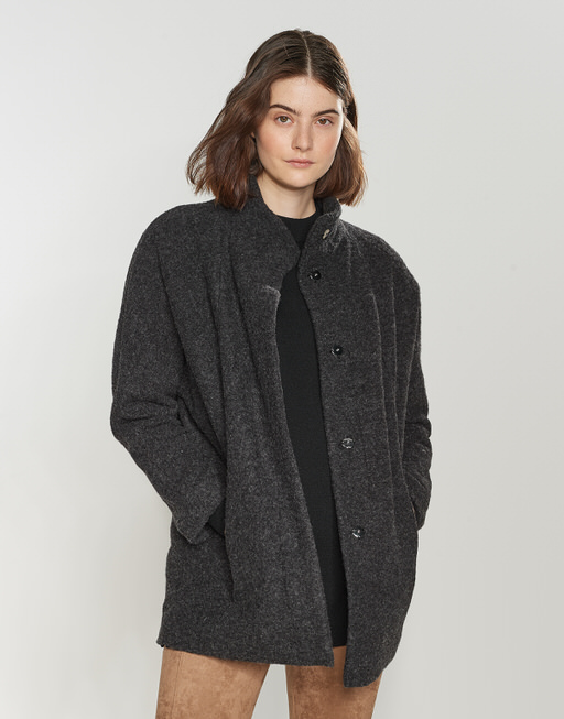 Oversized coat Hoover slate grey melange