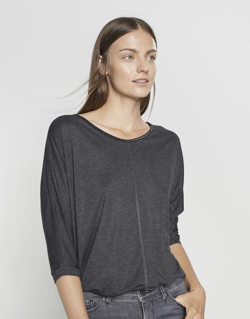 Oversize Shirt Sellina slate grey melange