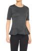 T-Shirt Serplum pepita slate grey melange