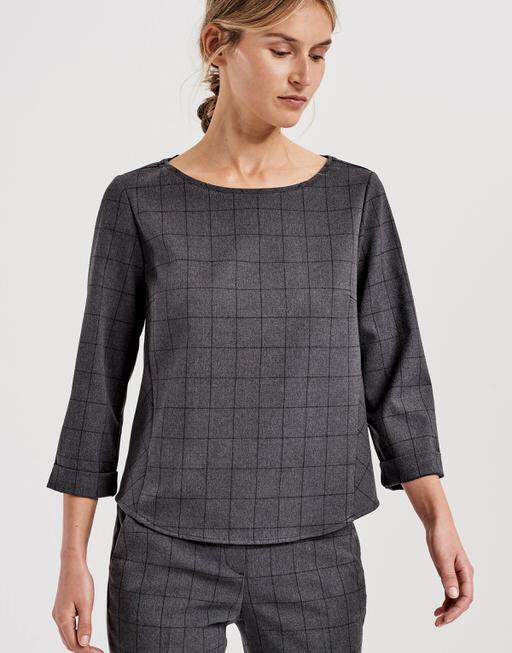 Shirtbluse Fatiha slate grey melange