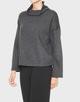 Boxy-Shirt Gopara slate grey melange
