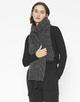 Strickschal Akozia scarf slate grey melange