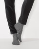 Socke Yastra little star slate grey melange