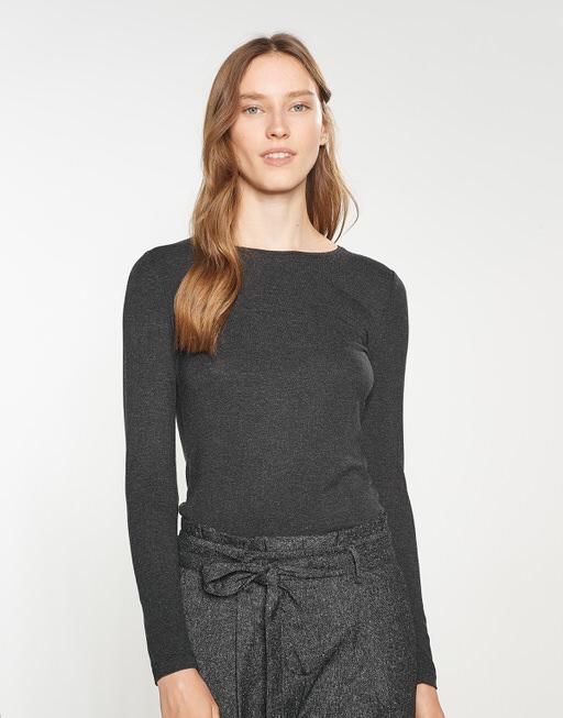Basicshirt Sedika slate grey melange