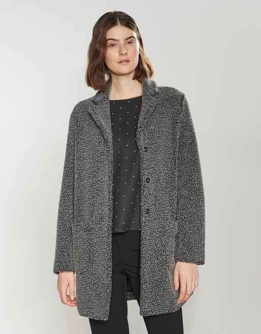 Mantel Hilja slate grey melange