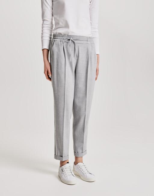 Business trousers Melosa pin iron grey melange