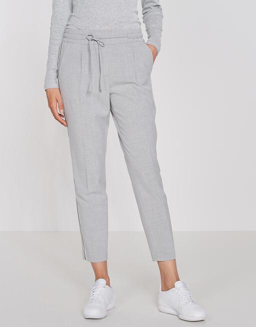 Business trousers Melosa single stripe iron grey melange
