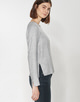 Shirtbluse Fioretta iron grey melange