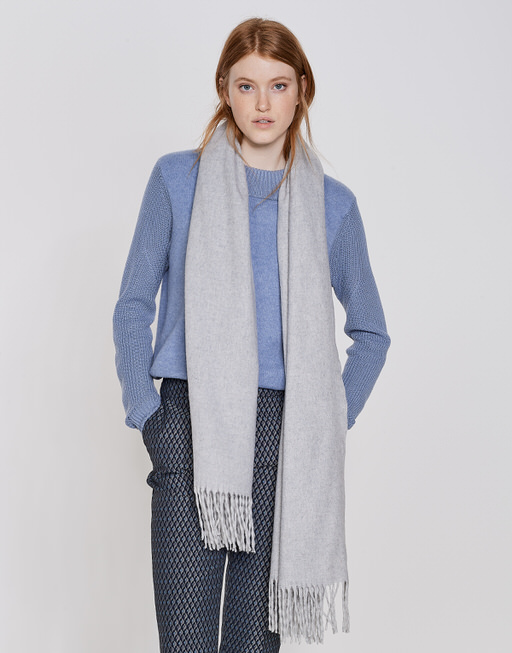 Oversize Schal Anell scarf iron grey melange