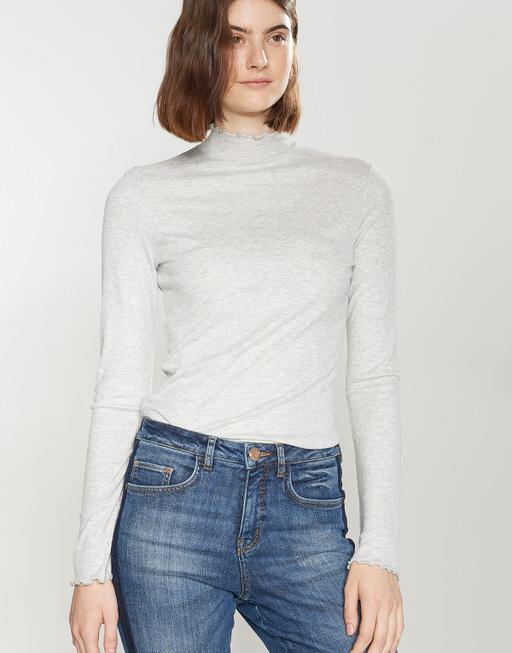 Shirt met col Soske iron grey melange