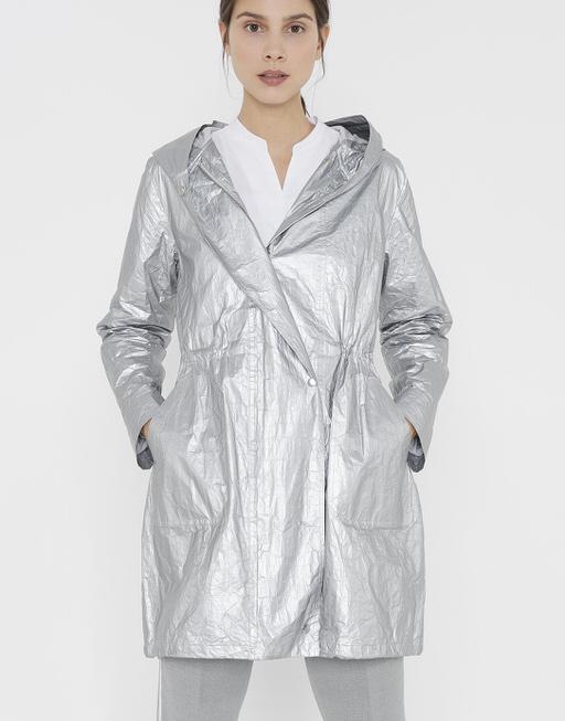Parka Helmine iron grey melange