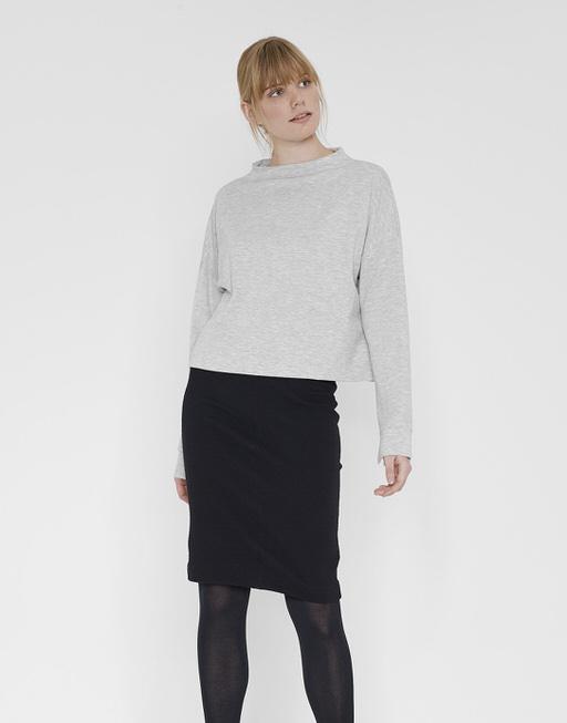 Boxy-Shirt Gustafa iron grey melange