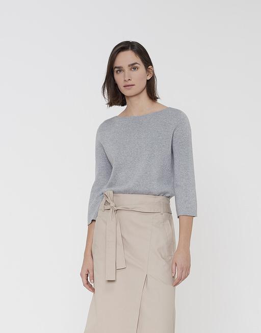 Baumwoll Pullover Pola iron grey melange