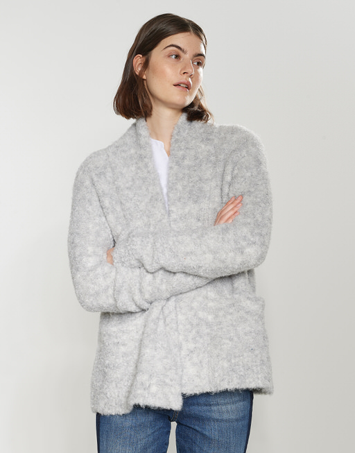 Strickjacke Dolke iron grey melange