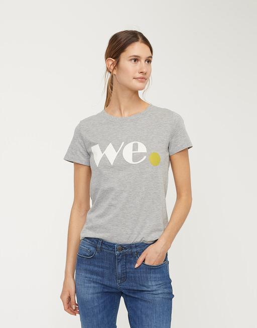 Shirt met print Sun Print ST iron grey melange