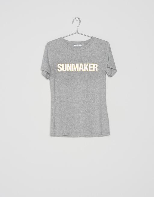 Shirt with print Santasta print HS iron grey melange