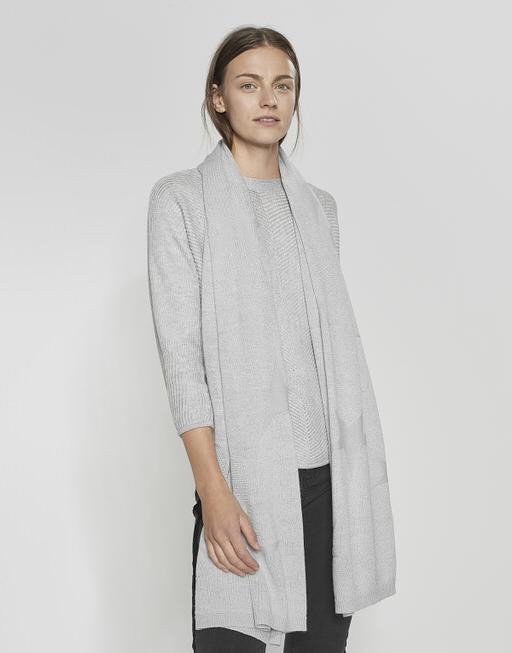 Streifenschal Astara scarf iron grey melange