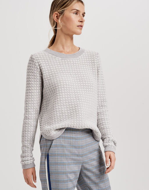 Knitted jumper Punktuna iron grey melange