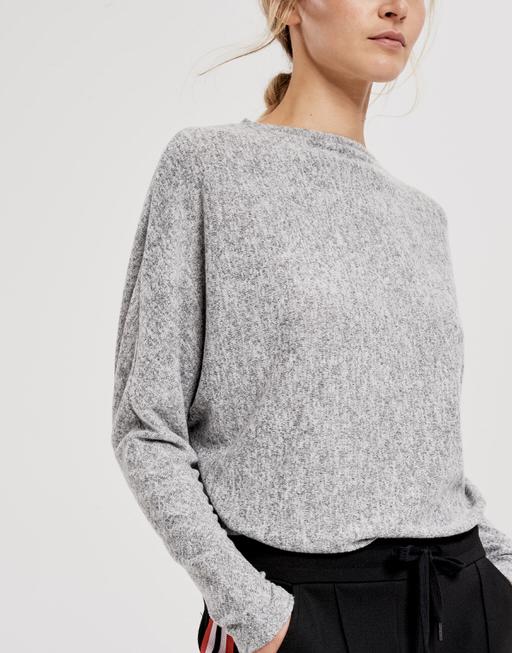 Oversized shirt Sevim iron grey melange