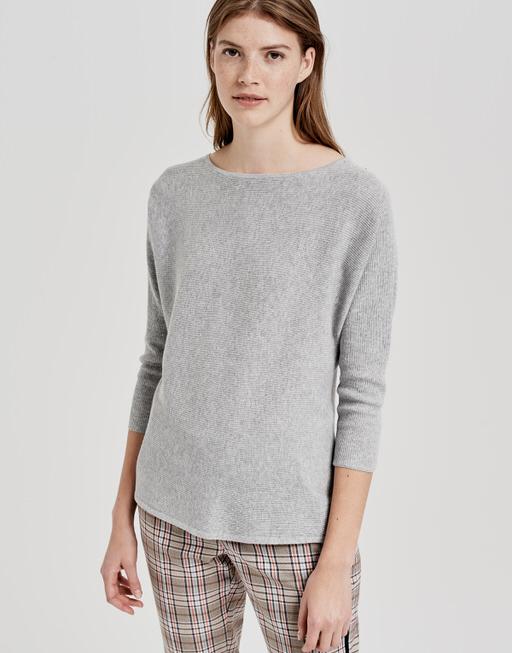 Baumwoll Pullover Pusine iron grey melange