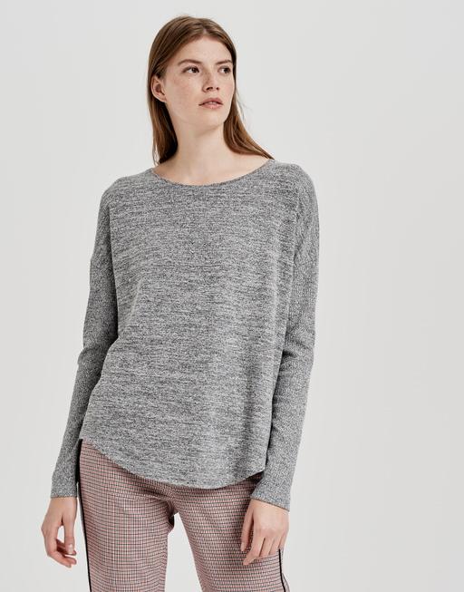 Long sleeve shirt Sobin iron grey melange