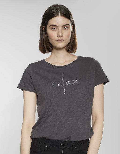 Motiv Shirt Selanda print HS grace grey
