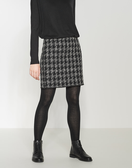 Skirt Ravenna boucle black